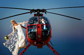 sposa in elicottero